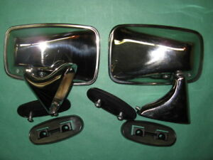 New Pair Oe Style Door Mirrors For 74 80 Mgb rightside Is Convex