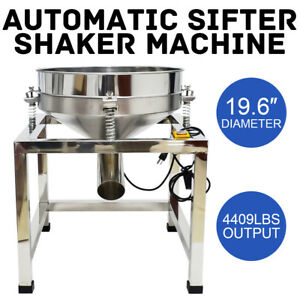 110v Electric Stainless Steel Vibration Sieve Machine Shaker Machine 80 Mesh