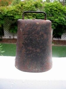 Sale Antique Primitive Rusty Metal Cow Bell Has Original Clapper 5 Charmng