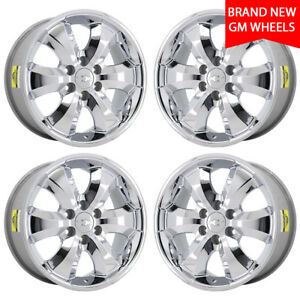 20 Avalanche Silverado Tahoe 1500 Truck Chrome Wheels Rims Factory Oem Set 5261