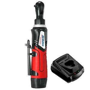 Acdelco Cordless 1 4 Ratchet Wrench 30 Ft lbs 240 Rpm Tool Set With 1 Li ion Ba