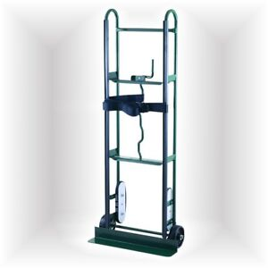 Green Steel Stair Climber Dolly Cart Hand Truck 800lb Moving Hauling Belt Straps
