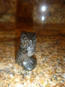 Vintage 2 Inch Hand Carved Wooden Owl Figure Bead Ornate