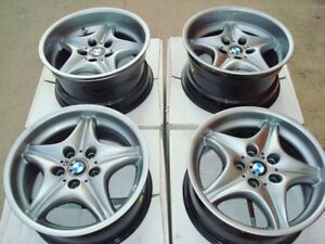 Bmw Z3 M Coupe 17 Chrome Shadow Genuine Roadster Oem Factory Bbs 40 Wheels E36