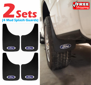 Mud Splash Guards Flaps Ford Oval Logo Car Truck Suv Flexible Universal Fit