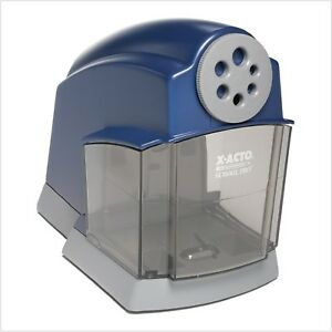 Exacto Pencil Sharpener Electric For Kid School With Automatic Stop System Blue
