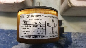New Superior Electric 10c Powerstat Variable Transformer 2 25a 0 132v ac