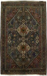 Captivating Unique Tribal Abadeh Persian Area Wool Rug Oriental Home Carpet 4x7