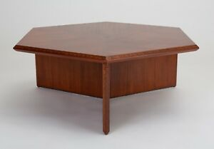 Frank Lloyd Wright Taliesin Hexagonal Coffee Table Mid Century Heritage Henredon