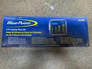 New Blue Point 4pc Locking Plier Set Blp404