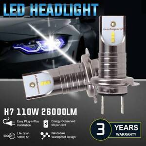 2pcs H7 26000lm 110w Led Headlight Car Fog Bulbs Driving Lamp High Power 6000k