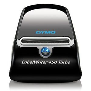 Dymo Labelwriter 450 Turbo Label Thermal Printer Black With Box Of Labels