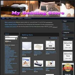 Bedding Store Fully Automated Functional Affiliate Website Great Income