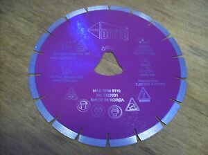 10 Purple Liberty Bell Blade For Soff Cut Saw Early Entry Concrete Blade