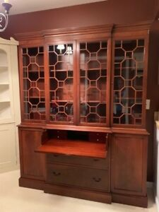 Secretary 5 Antique Breakfront China Cabinet