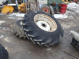 Ford 4630 Tractor Tires Wheels Rims Nice Good Tread 16 9 30 16 9 14 30