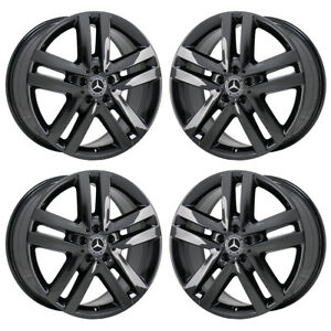 19 Mercedes Gl350 Gl450 Black Chrome Wheels Rims Factory Oem 85361 Exchange