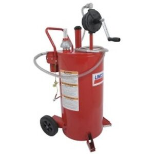 25 Gallon Fuel Caddy With 2 Way Filter System Lin3677 Brand New
