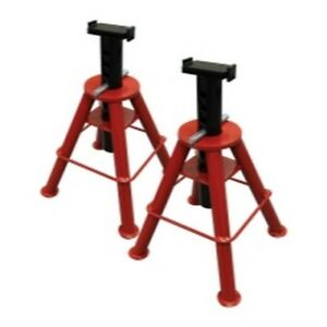 10 Ton High Height Pin Type Jack Stands Pair Sun1410 Brand New
