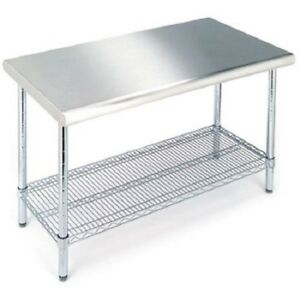 Steel Restaurant Table Commercial Stainless Bar Large Food Preparation Equipment