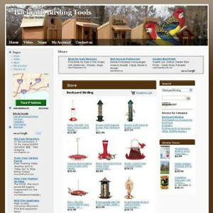 Backyard Birding Tools Store Online Business Website For Sale Free Domain Name