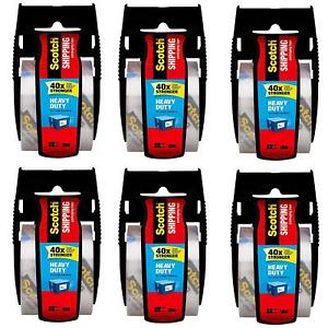 Scotch 142 6 1 88 Inches X 800 Inches Packaging Tape Pack Of 6