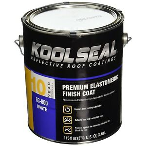 Roof Coating Elastomeric Uv Protection Liquid Rubber Cooling Paint White 1 Gal