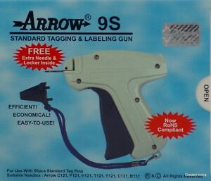 Free Shipping 5x Arrow 9s Standard Tagging Tag Gun Extra Needle