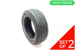 Set Of 2 Used 205 55r16 Michelin X Tour A S T H 91h 8 5 10 32