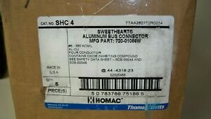 Homac Shc 4 720 01056w Sweetheart Aluminum Bus Connector Flood Seal case Of 5