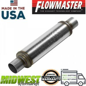 Flowmaster Fx Stainless Steel Round Body Muffler With 2 5in Inlet Outlet