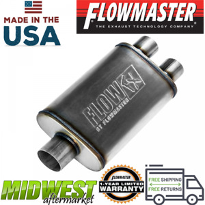 Flowmaster Fx Stainless Steel Muffler With 3in Center Inlet 2 5in Dual Outlet
