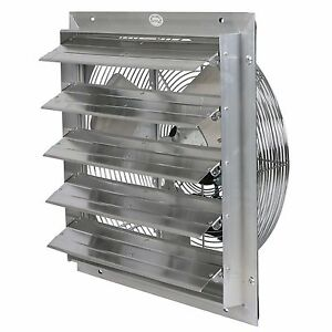 Exhaust Shutter Fan 20 3 Speeds Wall Mount Garage Vent Ventilator Economical