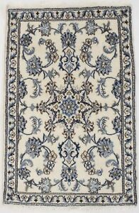 Amazing Small Traditional Hand Knotted Nain Persian Rug Oriental Area Carpet 2 6