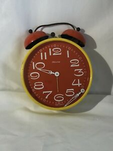 Mid Century Modern Decorative 60 S Blessing West Germany Clock Yellow And Red