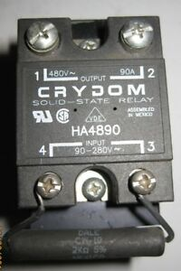 Crydom Ha4890 Solid State Relay W Resistor Cover Heat Sink In Vgc