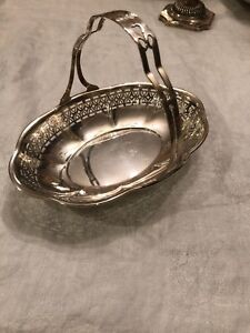 Gorham Sterling Silver Basket With Pierced Handle 2840a 2478