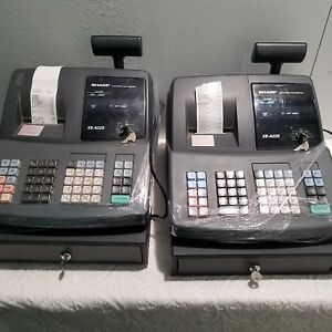 Lot Of 2 Sharp Xe a22s Electronic Cash Register s Complete W Keys Parts repair
