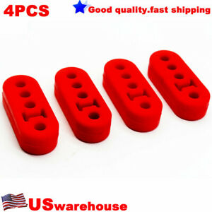 Universal 4pcs 12mm 4 Holes Silicone Adjustable Muffler Exhaust Hanger