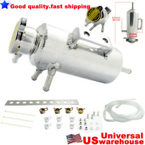 Universal Radiator Alloy Swirl Pot Breather Air Tank Engine Coolant Can Kit