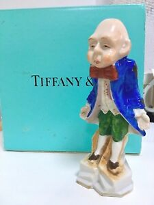Butler Character Porcelain Figurine Signed In Large Tiffany Box Valentine Gift