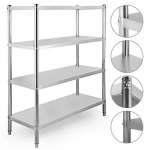 Stainless Steel Kitchen Shelf Shelving Rack Laundry 61 x47 x19 Canteens