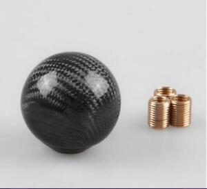 Round Ball Shape Black Carbon Fiber Universal Car Gear Shift Knob Shifter Lever