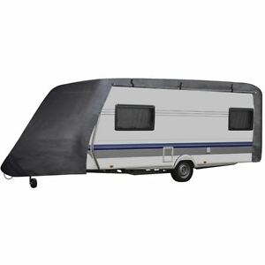 Vidaxl Caravan Cover W Zipper Fits 14 17 Ft Rv Trailer Travel Camper Storage