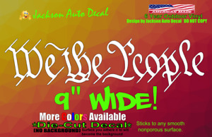 We The People Usa Constitution Ccw Gun Rights Threeper Car Window Decal Sticker