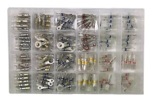 210 Pcs Optiseal Clear Heat Shrink Crimp Wire Terminal Connector Assortment Kit