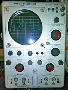 Working Vintage Tektronix 503 Oscilloscope With Probe