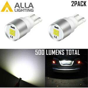 Alla 4 Led 1616 Smd 194 Instrument Panel Light Bulb 6000k White Replacement Lamp