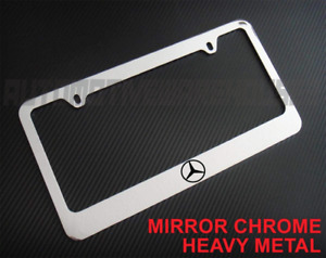 Mercedes Benz Logo Chrome Metal License Plate Frame