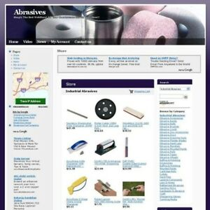 Completed Online Abrasives Science Business Website For Sale Free Domain Name